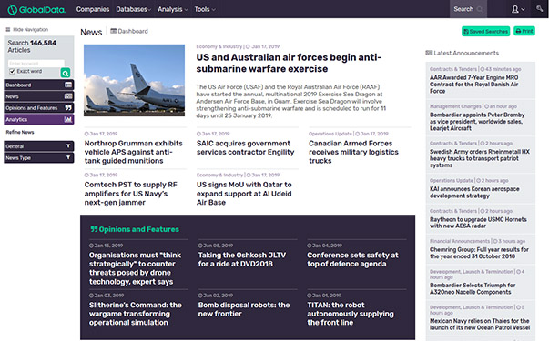 Globaldata aerospace, defence and security news
